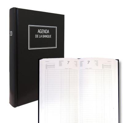 Agenda de la Banque LECAS Large 18x29 cm - Euros et centimes - 1 jour sur 2 pages