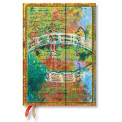 Agenda PAPERBLANKS Monet (Le pont), LettreàMorisot - Midi - 130×180mm - 1 jour par page
