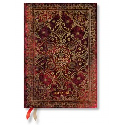 Agenda PAPERBLANKS Carmin - Midi - 130×180mm - 1 semaine sur 2 pages horizontal