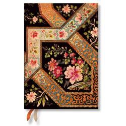 Agenda PAPERBLANKS Filigrane Floral Ébène - Midi - 130×180mm - 1 semaine sur 2 pages horizontal