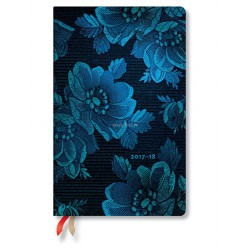 Agenda PAPERBLANKS Muse Bleue - Maxi - 135×210mm - 1 semaine sur 2 pages vertical