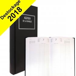 DESTOCKAGE - Agenda de la Banque LECAS Long 15 x 34 cm - Réglure double colonne, Euros et centimes - 1 jour sur 2 pages