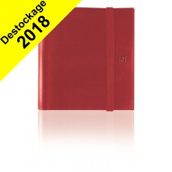 DESTOCKAGE - Agenda semainier à spirale OXFORD Compact organizer 12 x 15 cm - 1 semaine sur 2 pages couverture ROUGE