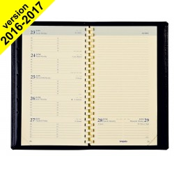 Agenda Plan BREPOLS Notaplan 9 x 16 cm - 1 semaine sur 2 pages
