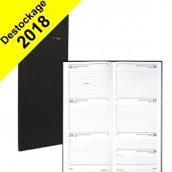 Agenda BREPOLS Saturnus - 13,5x33cm - 1 semaine sur 2 pages couverture noir Lima