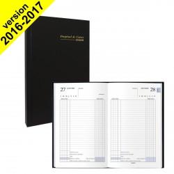 DESTOCKAGE - Agenda Perpétuel de caisse Journalier BREPOLS 13.3x21 noir