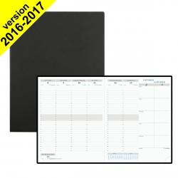 DESTOCKAGE - Agenda EXACOMPTA Horizon 27 - 27 x 21 cm - 1 semaine sur 2 pages coloris noir