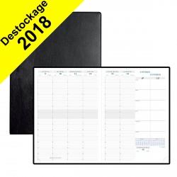 DESTOCKAGE - Agenda EXACOMPTA Consultations 29,7 x 21 cm - 1 semaine sur 2 pages - RDV 1/4h coloris noir