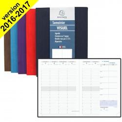 DESTOCKAGE - Agenda EXACOMPTA Visuel Woody - 210x150mm - 1 Semaine sur 2 pages (COLORIS ALEATOIRES)