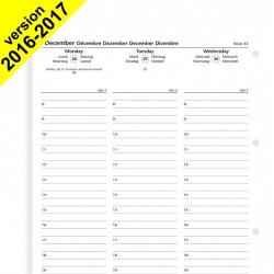 Recharge agenda FILOFAX organiseur A4 - 1 semaine sur 2 pages - 210x297mm - VERTICAL