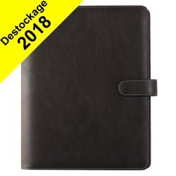 Organiseur OBERTHUR 30 MILANO en toile enduite couleur marron - format 25x32cm