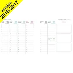 DESTOCKAGE - Recharge agenda OBERTHUR Féminin 16 - 16x16cm - 1 semaine sur 2 pages