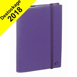 DESTOCKAGE - Agenda QUOVADIS TIME&LIFE POCKET violet - 10x15cm - 1 semaine sur 2 pages