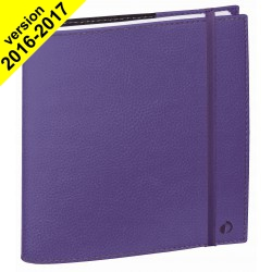 DESTOCKAGE - Agenda QUOVADIS TIME&LIFE MEDIUM violet - 16x16cm - 1 semaine sur 2 pages