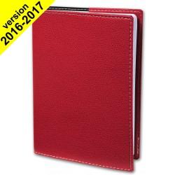 Agenda QUOVADIS PRESIDENT avec répertoire couverture Club rouge cerise 21x27cm - 1 semaine sur 2 pages