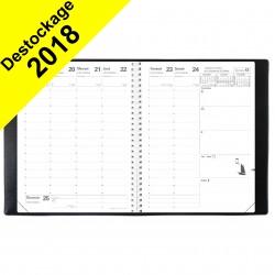Agenda QUOVADIS PRESIDENT S sans répertoire couverture Impala noir 21x27cm - 1 semaine sur 2 pages