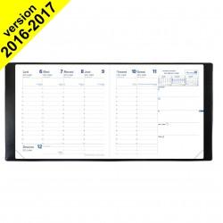 Agenda QUOVADIS Exécutif® 16 x 16cm - 1 semaine sur 2 pages