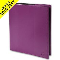 Agenda QUOVADIS EXECUTIF avec répertoire couverture Soho violet 16x16cm - 1 semaine sur 2 pages