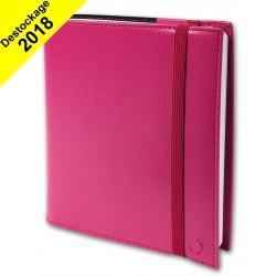 Agenda QUOVADIS TIME&LIFE MEDIUM avec répertoire rose 16x16cm - 1 semaine sur 2 pages