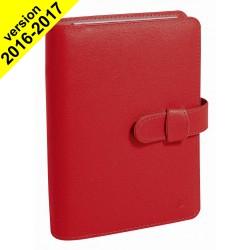 Agenda organiseur QUOVADIS - TIMER 21 PLANING couverture Soho rouge dali - 15x21cm