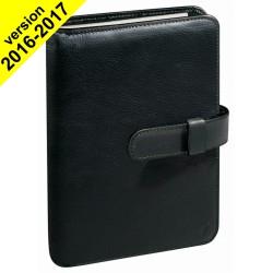 Agenda organiseur QUOVADIS - TIMER 21 prestige couverture Montebello noir - 15x21cm