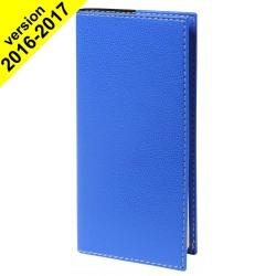 Agenda de poche QUOVADIS ITALNOTE S avec répertoire couverture Club bleu roi 8,8x17cm - 1 semaine sur 2 pages