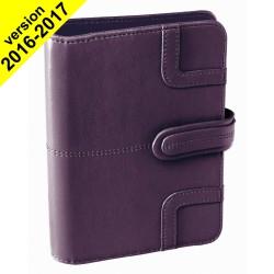 Agenda organiseur QUOVADIS - TIMER 17 PLANING couverture Capri violet - 10x17cm