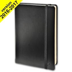 Agenda QUO VADIS Note 15 semaine sur 2 pages 10x15 cm 5 langues couverture Noir