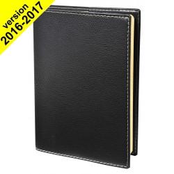 Agenda de poche QUOVADIS RANDONNEE avec répertoire couverture Club noir ébène 9x12,5cm - 1 semaine sur 2 pages