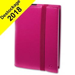Agenda de poche QUOVADIS TIME&LIFE POCKET avec répertoire rose 10x15cm - 1 semaine sur 2 pages