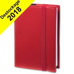 Agenda QUOVADIS TIME&LIFE LARGE avec répertoire rouge cerise 16x24cm - 1 semaine sur 2 pages