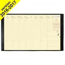Agenda Président «Prestige» QUOVADIS 21 x 27 cm - 1 semaine sur 2 pages