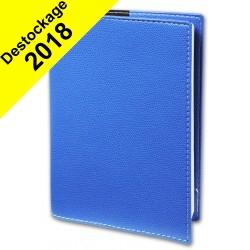 Agenda QUOVADIS PRESIDENT avec répertoire couverture Club bleu roi 21x27cm - 1 semaine sur 2 pages