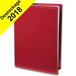 Agenda QUOVADIS CONSUL avec répertoire couverture Club rouge cerise 21x29,7cm - 1 semaine sur 2 pages
