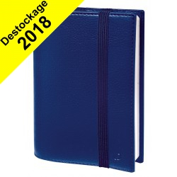 DESTOCKAGE - Agenda QUOVADIS TIME & LIFE POCKET - 10x15cm - BLEU PERSE - 1 semaine sur 2 pages