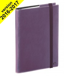 DESTOCKAGE - Agenda QUOVADIS TIME&LIFE LARGE violet - 16x24cm - 1 semaine sur 2 pages