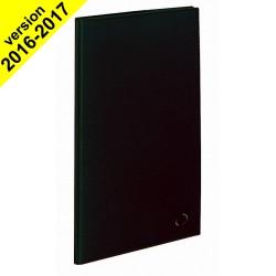 DESTOCKAGE - Agenda QUOVADIS ITALNOTE S à spirale - Soho noir ebene - 8,8x17cm - 1 semaine sur 2 pages + répertoire