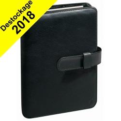 Agenda organiseur QUOVADIS - TIMER 17 Prestige couverture Montebello noir - 10x17cm