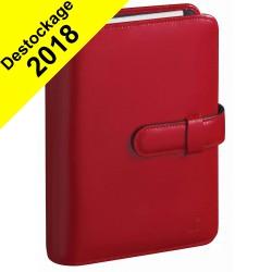 Agenda organiseur QUOVADIS - TIMER 17 Prestige couverture Luna rouge dali - 10x17cm