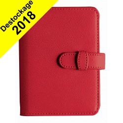 Agenda organiseur QUOVADIS - TIMER 17 Prestige couverture Club rouge cerise - 10x17cm