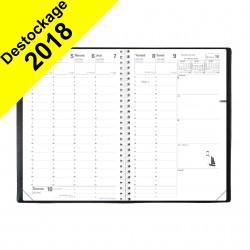Agenda QUOVADIS MINISTRE S couverture Impala noir 16x24cm - 1 semaine sur 2 pages