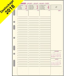 Recharge Exatime 21 papier ivoire semainier millésimé - 210 x 142 mm