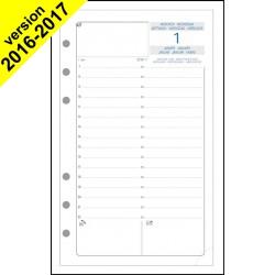 Recharge Exatime 17 journalier millésimé 1er semestre - 172 x 105 mm