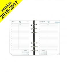 Recharge QUOVADIS Timer 17 blanc 10x17cm Décembre à Décembre 1 jour par page