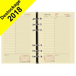 Recharge QUOVADIS Timer 17 Prestige ivoire 10X17 1 jour par page 12 mois