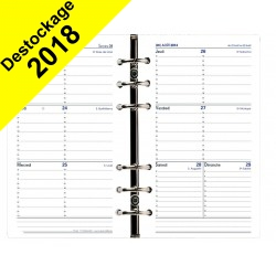 Recharge QUOVADIS Timer 17 horizontal 10 x 17 cm janvier - décembre + supplément septembre à décembre 16mois