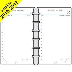 DESTOCKAGE-Recharge MIGNON TK12 - 120x73mm - 1 jour par page + répertoire
