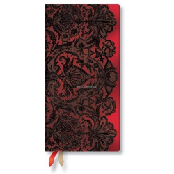 Agenda PAPERBLANKS Rouge Boudoir - Slim - 90×180mm - 1 semaine sur 2 pages horizontal