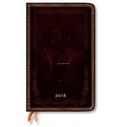 Agenda PAPERBLANKS Noir Marocain - Maxi - 135×210mm - 1 semaine sur 2 pages vertical
