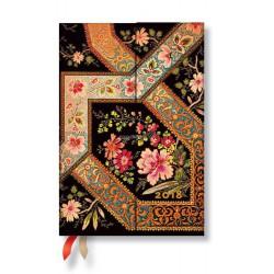 Agenda PAPERBLANKS Filigrane Floral Ébène - Mini - 100×140mm - 1 jour par page